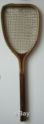 1884 Horsman tennis racket racquet FLAT TOP! Super rare! . Wimbledon