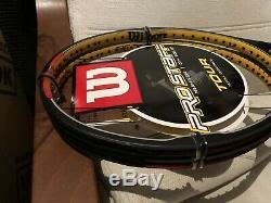 2 RACKETS WILSON PRO STAFF HYPERTOUR 90 FEDERER 340 gr. ABSOLUTELY NEW! RARE
