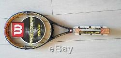 2 Wilson Hyper Carbon Tennis Racquets Pro Staff Tour 4 3/8 90 Inch Federer New