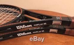 (2) Wilson Pro Staff 6.0 95 Midplus 4 1/2 Tennis Racquets