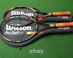2 x WILSON PRO STAFF CLASSIC 95 SQ. IN. 4.5 INCH LEATHER GRIP