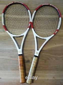 2 x Wilson Pro Staff 90 Grip 3 Used + Covers