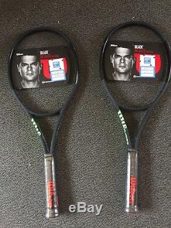2 x Wilson blade 98CV 16x19 Noir Tennis Rackets (Grip size 4)- BRAND NEW