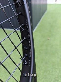 2017 Wilson Pro Staff Rf97 Autograph Tennis Racket Strung Grip 4 Roger Federer