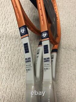 2X NEW Wilson Blade 98 Roland Garros LTD Tennis Racquet Grip Size 4 3/8