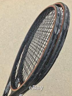2X WILSON Pro Staff 6.0 95 Classic STRUNG Tennis Racquets! 4 5/8! FAIRWAY! RPM