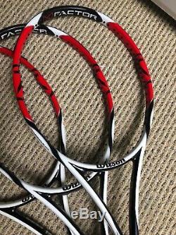 3 New Wilson K-Factor Six One 95 tennis racquet, 4 3/8 Brand New Original frame