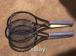 (4) Wilson H22 Xl Pro Stock Tennis Rackets Blade 18x20