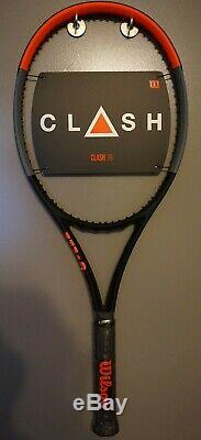 BRAND New Wilson CLASH 98 Tennis Racquet 4 3/8 L3 Racket 16x19 2019 NEW RELEASE
