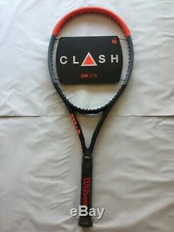Brand New Wilson Clash 100 Pro Tennis Racquet 4 3/8