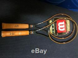 Brand Newith 2 Wilson ps 85s with Pete Sampras Autograph! 45/8 45/8