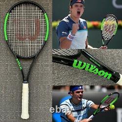 Milos Raonic Personal Match Used Wilson Pro Stock Tennis Racket