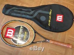 NEW RARE Old Wilson Hyper Pro Staff Tour 90 Federer 4 1/4 grip Tennis Racquet