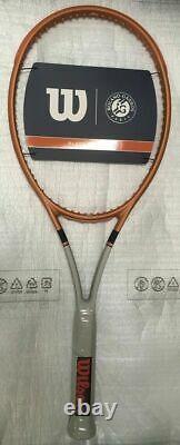 NEW Wilson Blade 98 16x19 v7 Roland Garros Tennis Racquet 4 3/8 Racket LTD. EDI