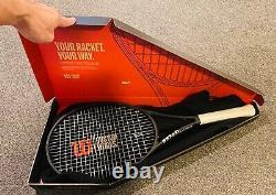 NEW Wilson Blade 98 18x20 v7 Tennis Racquet Grip Size 4 1/4 Custom Works Black