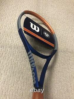 NEW Wilson Clash 100 Roland Garros LTD Tennis Racquet Grip Size 4 1/4