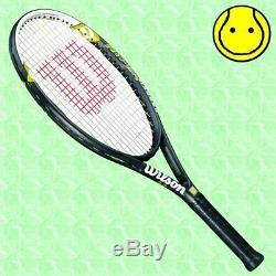 NEW Wilson Hyper Hammer 5.3 OS 4-3/8 grip STRUNG with COVER Tennis Racquet