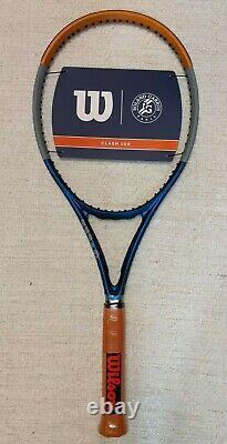 NEW Wilson Roland Garros Clash 100 Tennis Racquet Grip Size 4 3/8