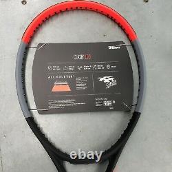 NIW Wilson Clash 100 Unstrung Tennis Racquet 4 1/4 Grip Size