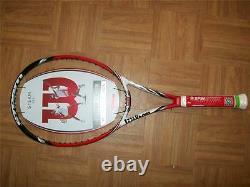 New 2015 Wilson BLX Steam 99S 16x15 pattern 99 head 4 3/8 grip Tennis Racquet