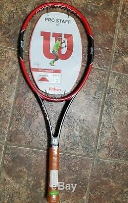 New 2015 Wilson Pro Staff 97 Tennis Racquet 1/4, 3/8, 1/2 Rare