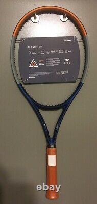New WILSON Clash 100 Roland Garros Tennis Racquet 4 1/4 Racket LTD. EDITION