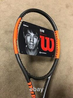 New Wilson BURN 95 Tennis Racquet Unstrung Grip Size 4 3/8 Nishikori