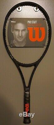 New Wilson Pro Staff 97 Autograph Roger Federer RF97 4 1/2 Racket BLACK