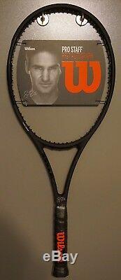 New Wilson Pro Staff 97 Autograph Roger Federer RF97 4 1/4 L2 Racket BLACK