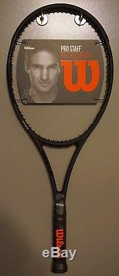 New Wilson Pro Staff 97 Autograph Roger Federer RF97 4 3/8 L3 Racket BLACK