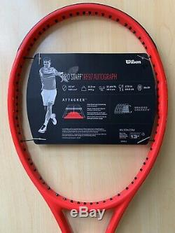 New Wilson Pro Staff RF97 Autograph Laver Cup Red Grip 4 1/4