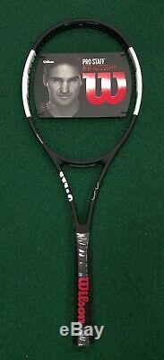 New Wilson Pro Staff RF97 Autograph Tennis Racquet Blk/White 340g/12.0oz 4 1/4