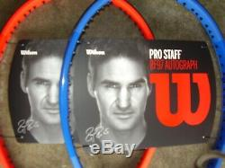 NewithWilson Laver Cup Tennis racquets red41/2 blue 43/8