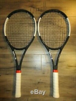 Pair of Wilson Roger Federer Tuxedo Pro Staff RF97 tennis racquets 4 1/2 Grip
