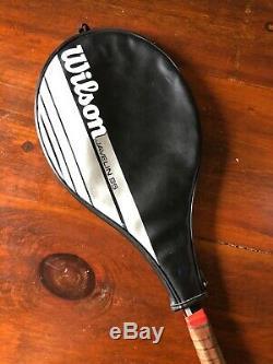 RARE Wilson Javelin 95 4 3/8 grip VTG Stefan Edberg W Split Throat With Case