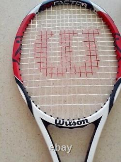 RARE Wilson K Factor Tour 90 Tennis Bag, K Factor Six One Tour Racket, Carry Bag