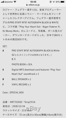 ROGER FEDERER PRO STAFF RF97 AUTOGRAPH BLACK & WHITE VIP BOX From Japan RARE
