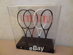 Roger Federer Limited Edition 2017 Wilson Mini Racket Collection Rare