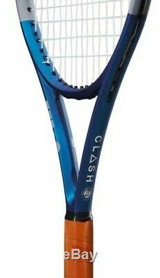 Special Edition Wilson Clash 100 Roland Garros Tennis Racket Unstrung Grip 2