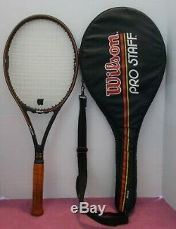 St. Vincent Wilson Pro Staff Midsize 85 Tennis Racquet 4 3/8 NEW STRINGS&BONUS