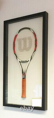 Steiner Sports Federer Auto Signed Game Model Racket 4 3/8 Framed K90 Prostaff