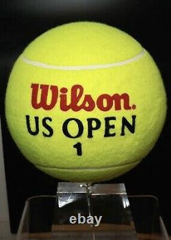 Tennis Collectibles GOD'S TENNIS RACQUET & WILSON US OPEN THINK BIG BALL