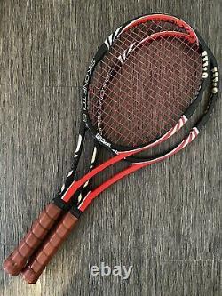 Two Wilson BLX Six-One Tour 90 RF Tennis Racquets 4 1/2 L4