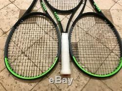 Up to three Wilson Blade 98 16x19 v7 Midplus tennis racquets 4 3/8