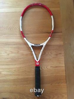 Used 2014 Pro Stock Wilson 6.1 95 18x20 332g Grip Size 4 Tennis Racquet/ Racket
