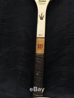 Vintage 1960's Wood Tennis Wilson Jack Kramer Autograph Racquet Racket