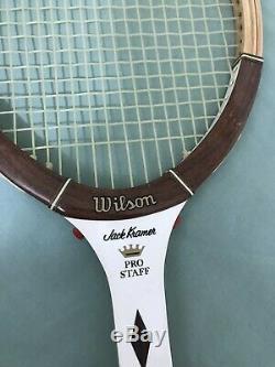 Vintage WILSON WOOD TENNIS RACQUET - 4 1/2 Grip - JACK KRAMER PRO STAFF tb