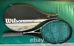 Vtg Wilson JAVELIN 95 PWS split open throat HM graphite tennis racquet S. Edberg