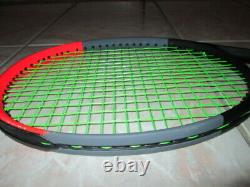 WILSON CLASH 98 Tennis Racquet Racket 4 1/8 L1 Gently Used Solinco Hyper G 17
