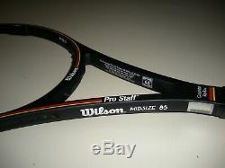 WILSON PRO STAFF 6.0 MIDSIZE 85 350g TENNIS RACQUET 4 3/8 PRO STOCK NEW